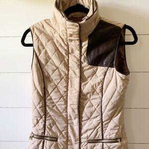 NWT Zara vest with faux leather detail